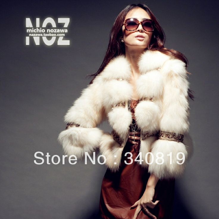2013 winter (Paris designer) Luxury golden fox fur women's outerwear quality European-style natural fox fur jacket coat female $673.15