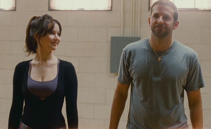 GREATEST MOVIE COUPLES Ѽ Jennifer Lawrence and Bradley Cooper As Tiffany Maxwell and Pat Solatano, Jr in Silver Linings Playbook (2012) A bipolar man named Pat attempts to get his life together after spending eight months in an asylum following assault charges. He soon bonds with a promiscuous widow Tiffany, and offers to be her partner for a dance competition if she'll help him contact his ex-wife. © JoJo Whilden/AP Photo