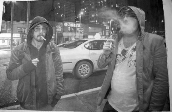 This is not a photograph, but actually a hyperrealist drawing made with graphite and chalk. By Paul Cadden.