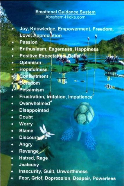 Abraham-Hicks Emotional Guidance Scale
