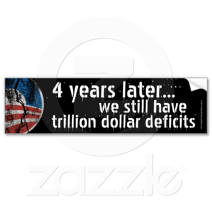 Anti obama debate deficit bumper stickers
