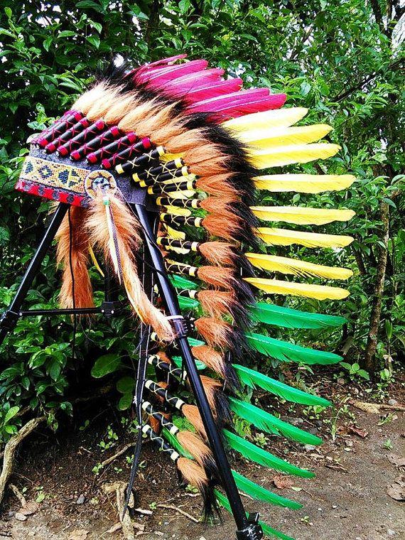 Medium Length Native American Headdress by TheLandOfCockaigne
