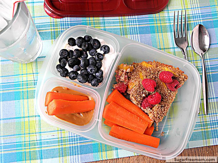Healthy Mom-Meal-To-Go! Using fruity baked quinoa and EasyLunchBoxes! New board: Mom-Meals-To-Go