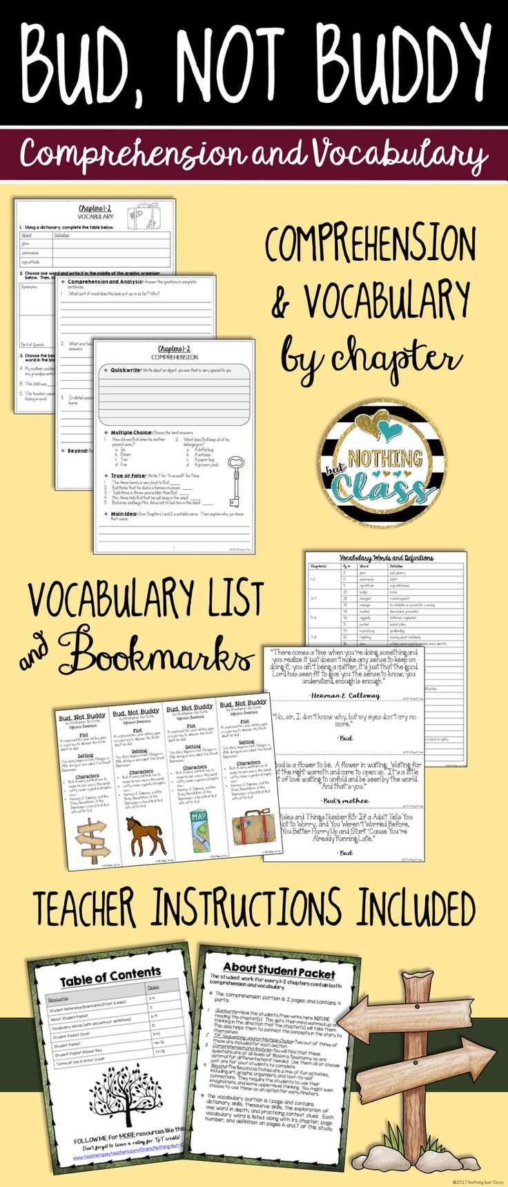 Worksheets Bud Not Buddy Worksheets 543226 best educational finds and teaching treasures images on bud not buddy comprehension vocabulary by chapter