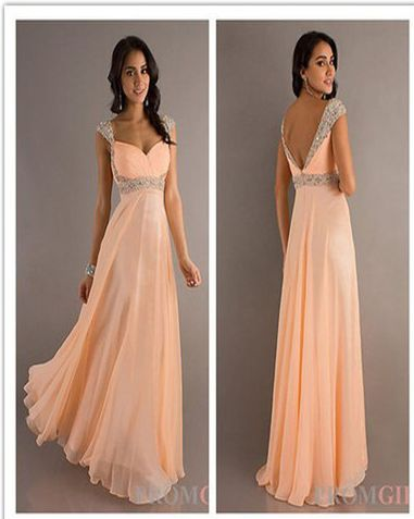 Romantic prom gown