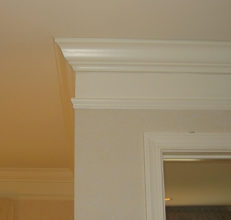 25 best faux crown molding images on pinterest crown for Standard crown molding size