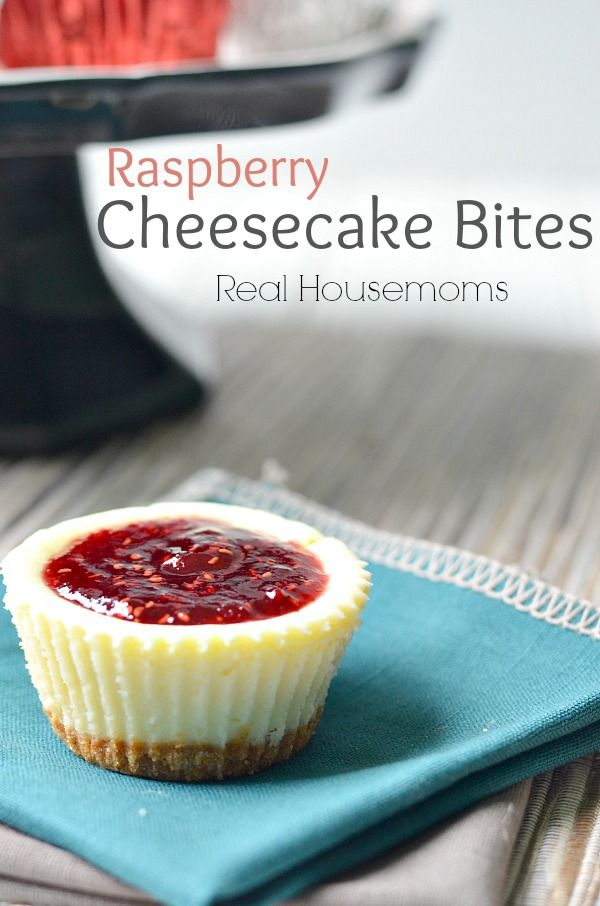 Raspberry Cheesecake Bites | Real Housemoms | These always go fast!