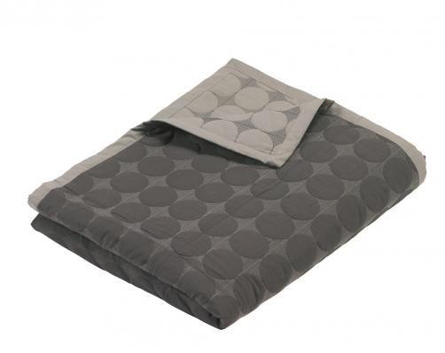 HAY - Mega Dot Quilt Bed Cover, grey