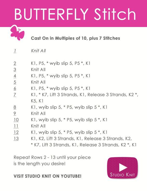 17 Best ideas about Knit Stitches on Pinterest Knitting patterns free, Knit...