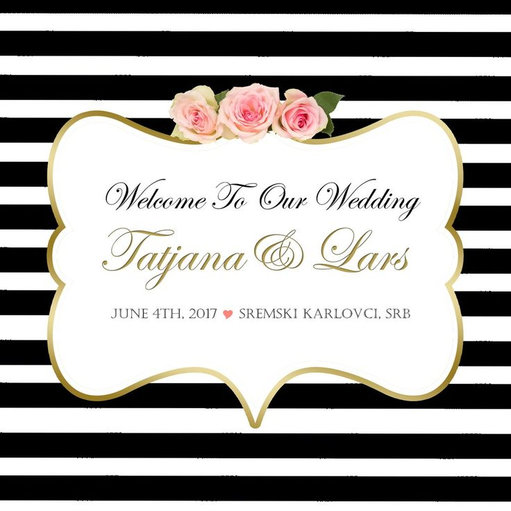 (sku101) Wedding Welcome Bag label-black stripe with gold 4 favor, hotel hospitality gift goody bags