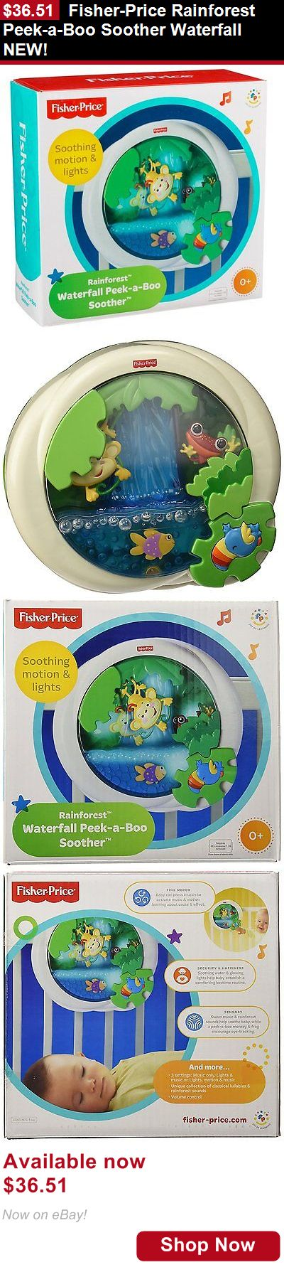 Crib Toys: Fisher-Price Rainforest Peek-A-Boo Soother Waterfall New! BUY IT NOW ONLY: $36.51