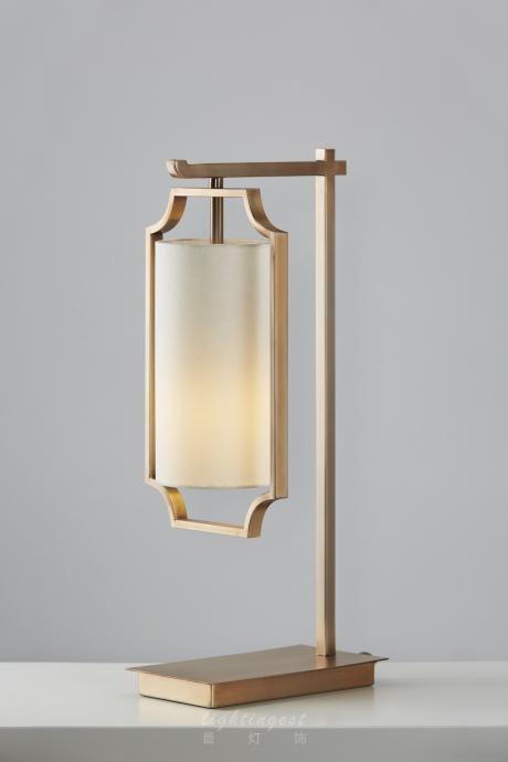 【Lightingest】Zen Chinese style table lamp【最灯饰】5月新品禅意新中式极简设计师样板房客厅卧室书房台灯