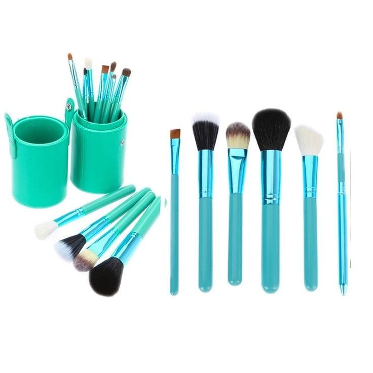 SUPERLADY Professional 12Pcs Cosmetic Makeup Make Up Brush Brushes Set Kit Tools Super Soft Pouch Bag Case Blue | Lazada Malaysia