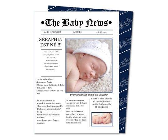faire part naissance presse quotidien