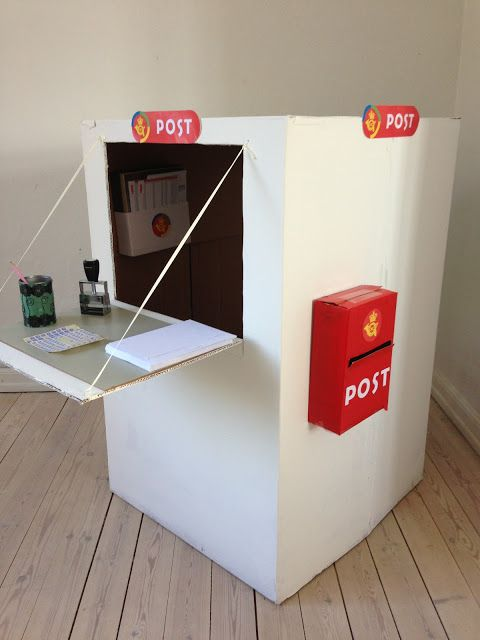 Make your own postoffice of a cardboard box