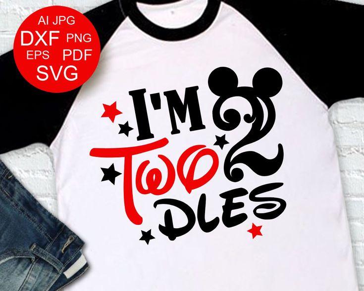 Download I'm Twodles svg Mickey Birthday Two SVG Shirt design ...