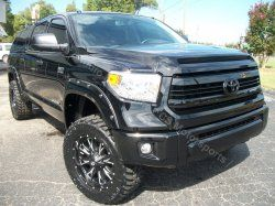 """2015 Toyota Tundra SR5 4x4  * 3"""" ReadyLift Suspension LIFT * 20"""" D513 Fuel Offroad Wheels * 305x55x20 Nitto Tire TRAIL GRAPPLER * A.R.E. Truck Caps and Tonneau Covers Z SERIES TOP * Bushwacker FENDER FLARES * CUSTOM LEATHER KIT (Front & Rear Seats) * NEX 7"""" MULTIMEDIA NAV SYSTEM * CUSTOM PAINT BODY"""