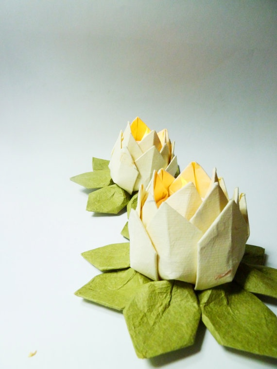 36 best images about candles decorations on pinterest for Diy paper lotus candlestick