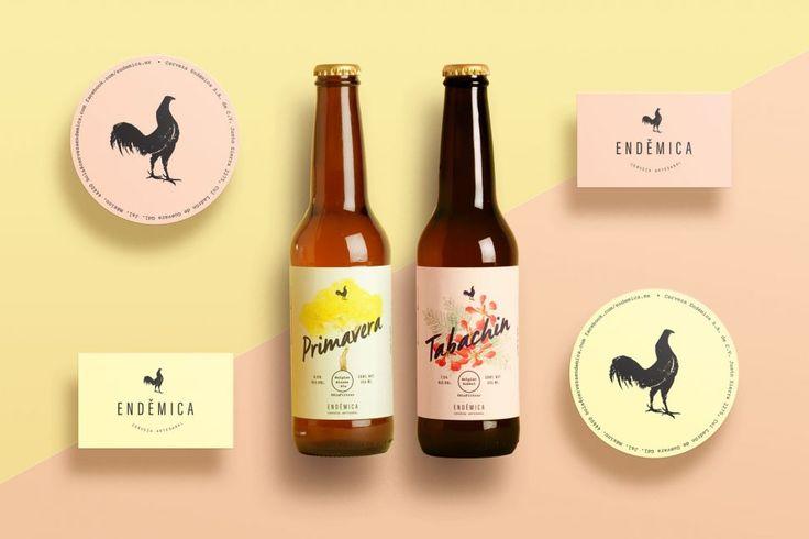 Endémica, la línea de cerveza artesanal mexicana con un packaging colorido y amigable diseñada por Paco Aguayo, diseñador del estudio Análogo.