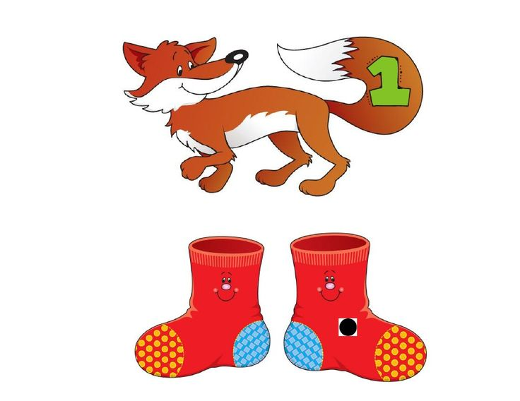fox in sox number matching.. using the foxes with numbers on them & flipping over, whichever number the fox has on it is the number of times they have to say a speech word!