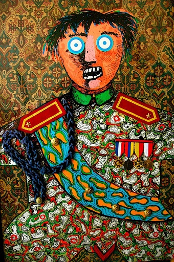 Enrico Baj- General- Private collection