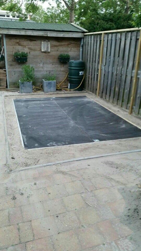 Ingegraven trampoline dl2