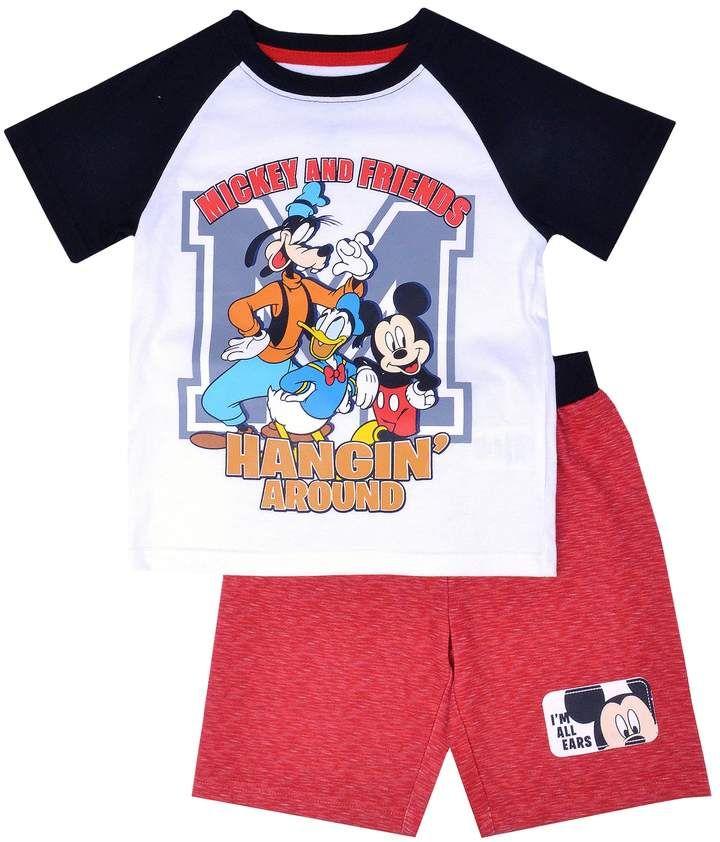 Disney Mickey Mouse Boys T-Shirt and Shorts Set