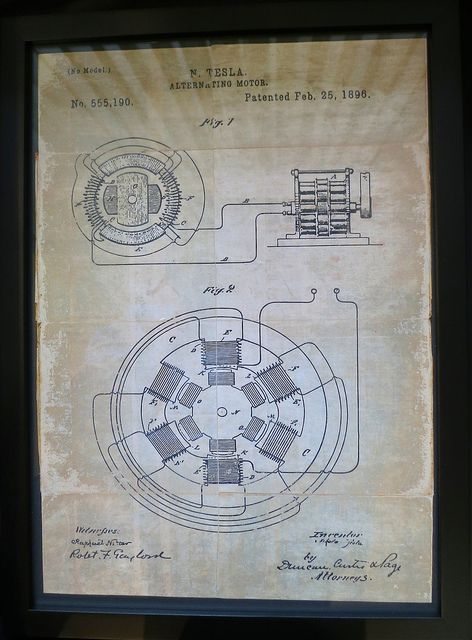 How it all started... the Nikola Tesla patent on the alternating motor - no brushes or rare Earth magnets needed by jurvetson, via Flickr