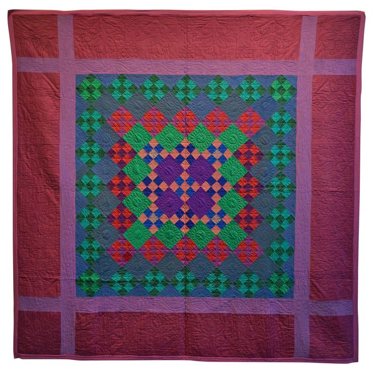 Lancaster County Amish Nine Patch Quilt Wool Quilt And