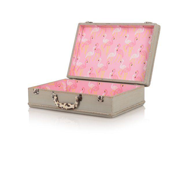 Small Tropical Decorative Storage Suitcase | Bathroom | Oliver Bonas