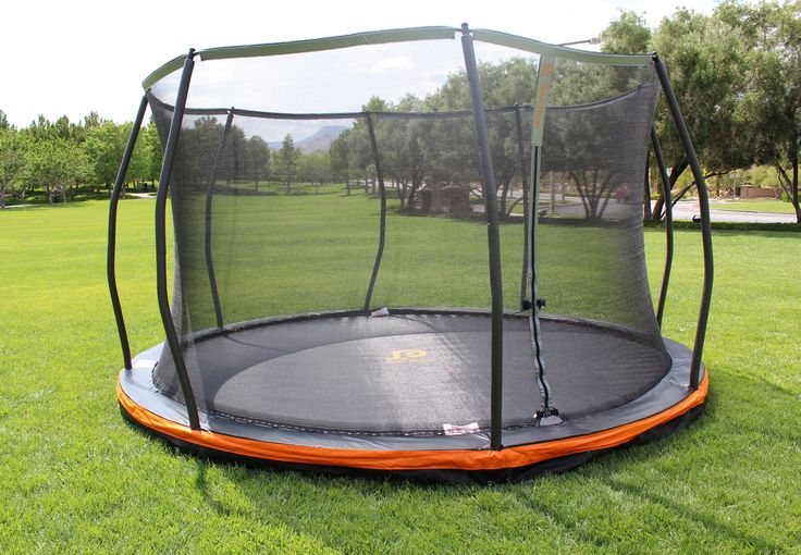 13 ft Round In-ground Trampoline & Safety Net Enclosure Combo