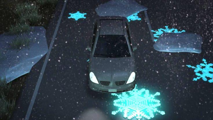 •De slimme snelweg Interactieve snelweg die informatie geeft al naargelang de omstandigheden en met ingebouwde oplaadmogelijkheden voor elektrische voertuigen. Ontworpen in Nederland.