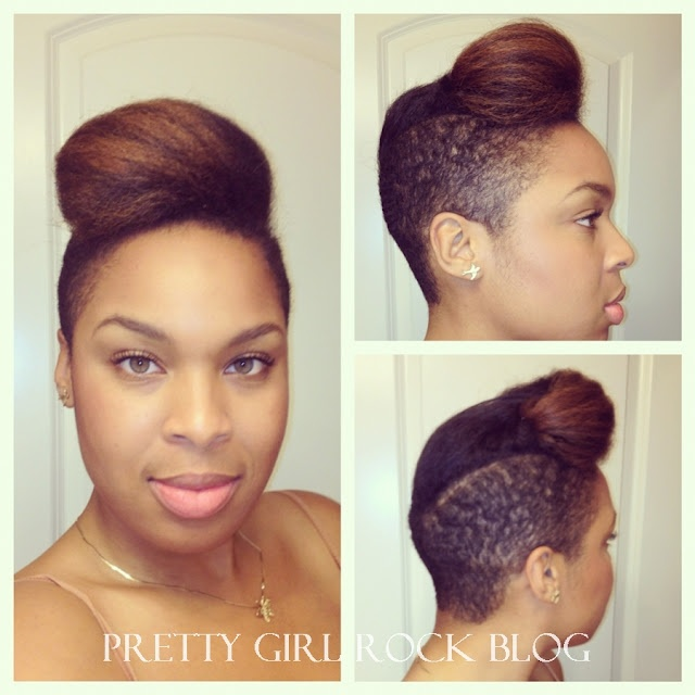 Luxe Beauty Blog formerly Pretty Girl Rock | Curly to straight natural hair | straightening natural hair | shaved sides hairstyle ideas