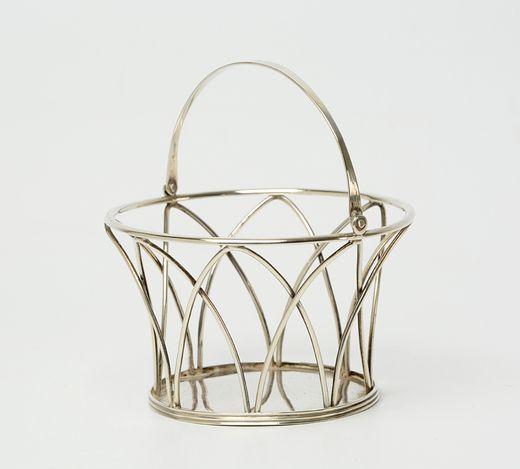 Rond zilveren kluwenmandje met draadgevormde togen - H.A. Meyer, 's-Gravenhage (1807/1811) - 1809/1810 - 11.7 gram
