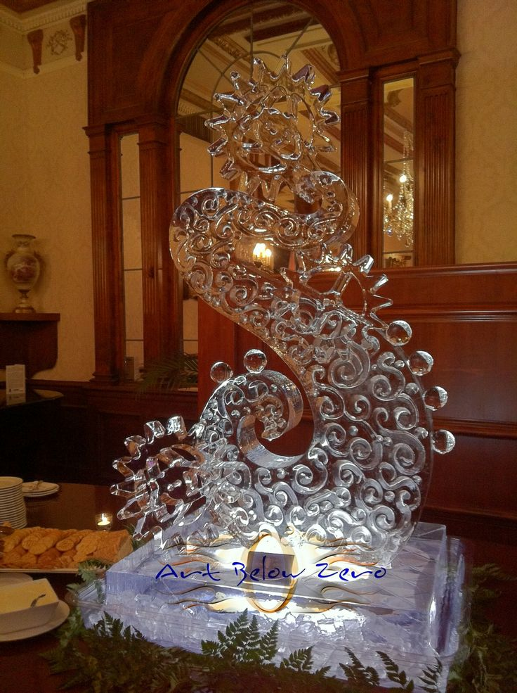 Best table centerpeices ice carvings images on