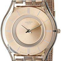 Reloj Dorado para mujer marca suiza Swatch - https://relojesdorados.com/swatch