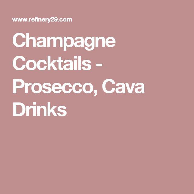 Champagne Cocktails - Prosecco, Cava Drinks