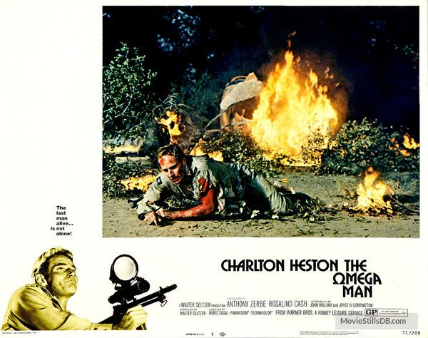The Omega Man - Lobby card with Charlton Heston