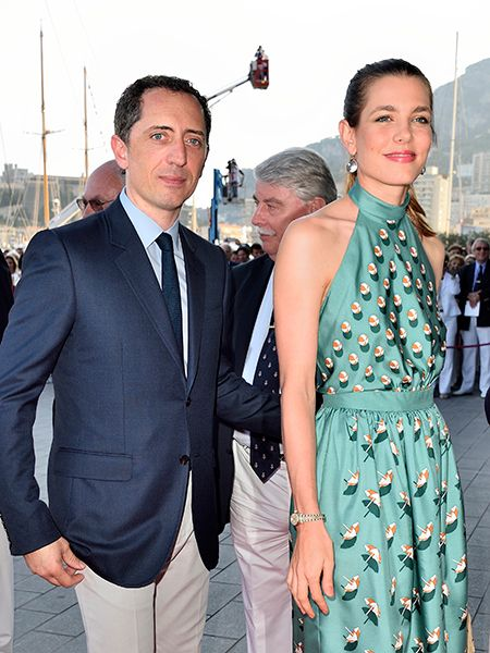 Gad Elmaleh and Charlotte Casiraghi pictured two days before the baptism of their son Raphael.