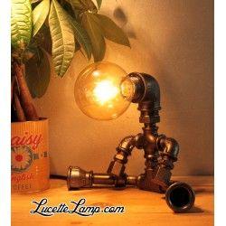Lampe robot Assis Noir