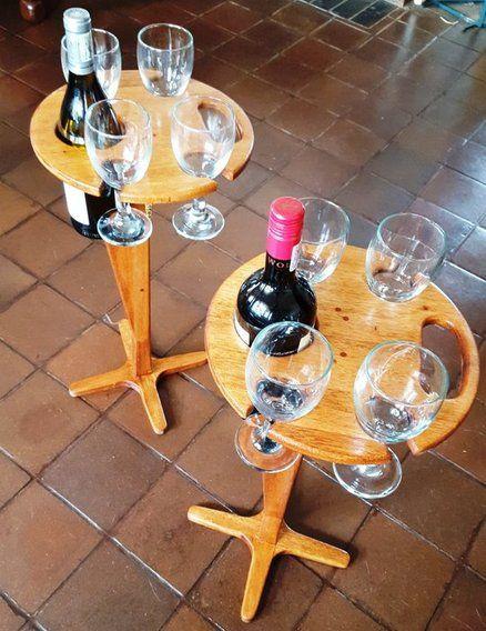 Folding Wine Table for Picnics