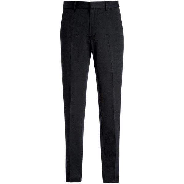 Joseph Wool Cotton Twill Jack Trousers ($445) ❤ liked on Polyvore featuring men's fashion, men's clothing, men's pants, men's dress pants, navy, mens navy blue pants, mens tapered dress pants, mens tapered pants, mens zip off pants and old navy mens pants