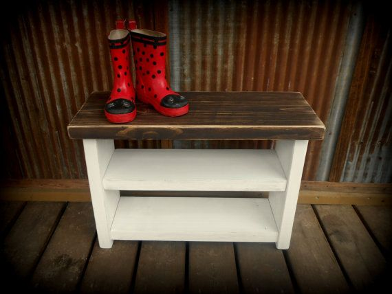 Kid's Shoe Rack Bench by TheHenryHouse on Etsy, $75.00
