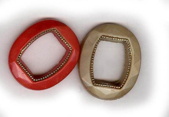 vintage GLASS FRAME SHAPES originally were for fancy watches