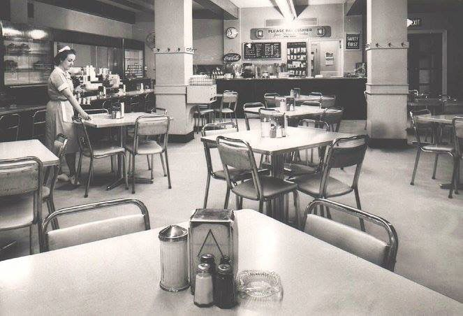 Coffee shop.......chips and a coke please