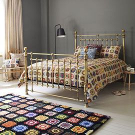 Heal's Bedknobs Kingsize Brass Bed - king size £2995. £2548 from Cornish Bed Company.