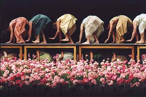 Pina Bausch and her work Nelken, Carnations, 2005.  john ross