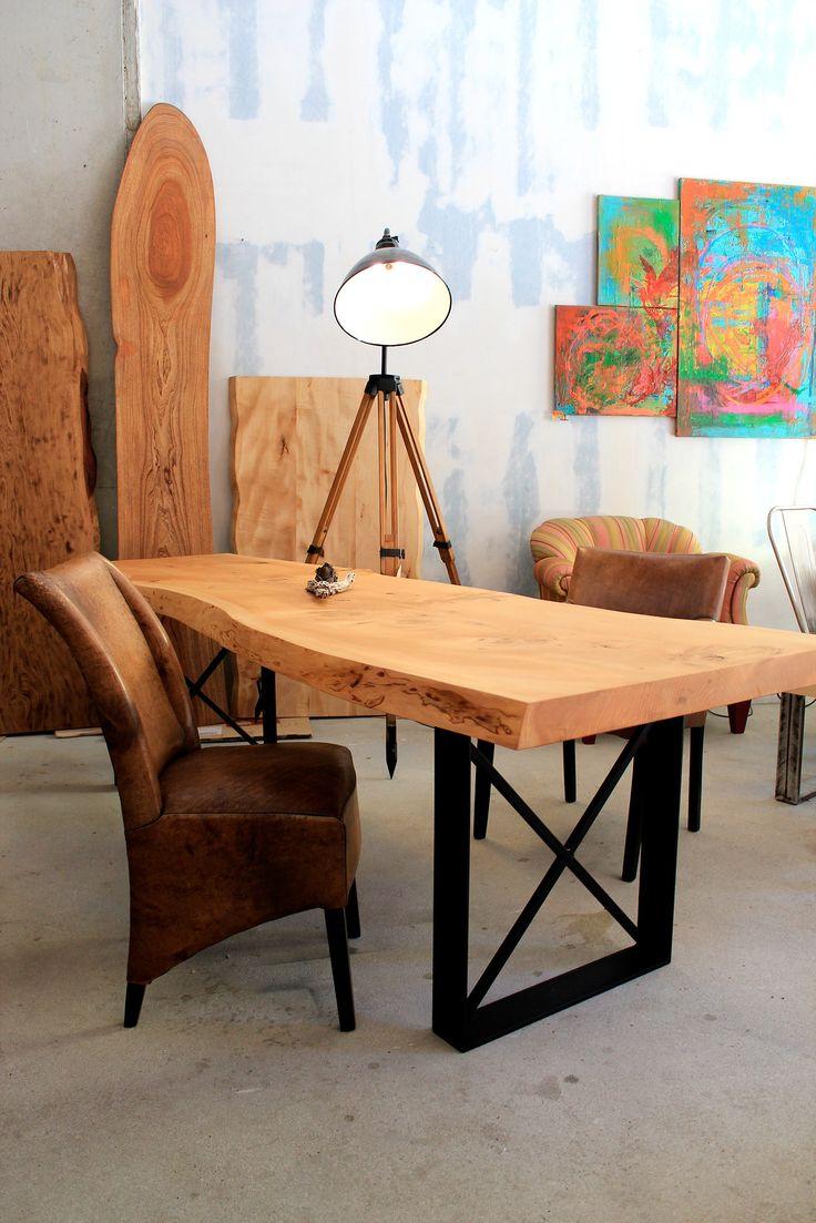 Esstisch / Holztisch / Naturholztisch aus Zedernholz mit Baumkante   Holzwerk-Hamburg