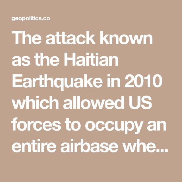 The attack known as the Haitian Earthquake in 2010 which allowed US forces to occupy an entire airbase where Haitian Central Bank gold bullion were flown away from, kept the Khazarian Mafia survive through the Asian induced financial crisis in 2008 and onwards.