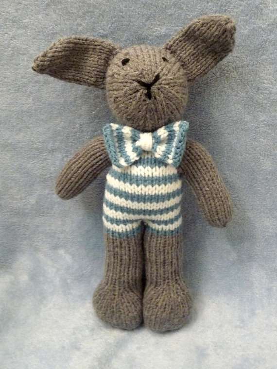 Knitting Patterns For Toy Rabbits : 144 best images about Knitting Animals Bunnys / Rabbits on Pinterest B...